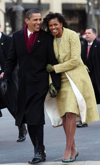 Look at those amazing gams! And by the way, is that Andy Bernard's slightly chubby cousin trailing the first couple?